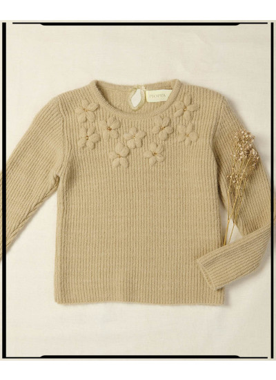 LUPE sweater flores bordadas nena