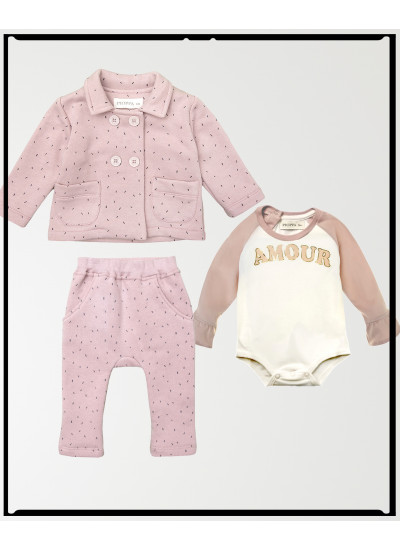 LOOK BABY GIRL DOTS: conjunto jogging + body