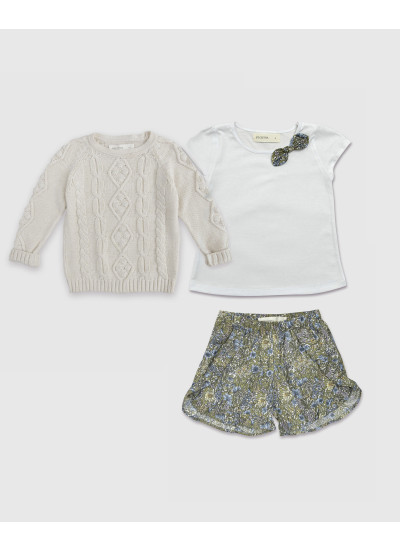 LOOK GIRL JULIA: remera + short + sweater