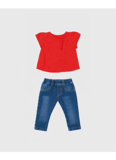 LOOK BABY GIRL ROUGE: camisa + pantalón