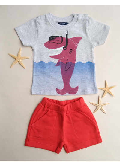 LOOK SALE BABY BOY OCEAN conj de remera y short
