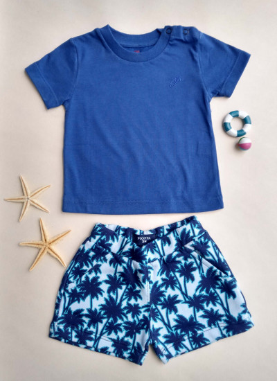 LOOK SALE BABY BOY PALM conj de short y remera