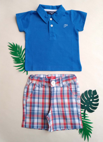 LOOK SALE BABY BOY POLO conjunto de short y chomba