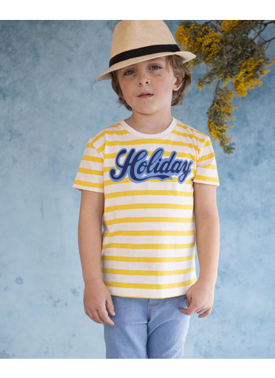 HOLIDAY remera rayada nene